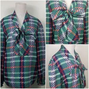 🎄《 v i n t a g e 》 Plus Size Plaid Collar Blouse